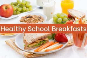 healthy breakfast at school cafeteria