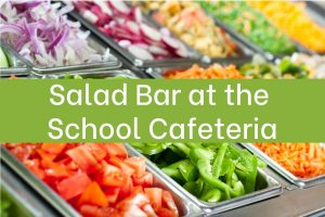 salad bar at school cafeteria